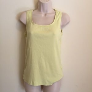 Chico's Women's Ribbed Tank Top Yellow Size 1